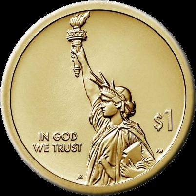 США монета 1 доллар, аверс