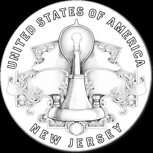 США монета 1 доллар Нью-Джерси, реверс