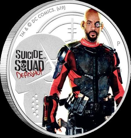 Тувалу монета 1 доллар Отряд Самоубийц, реверс