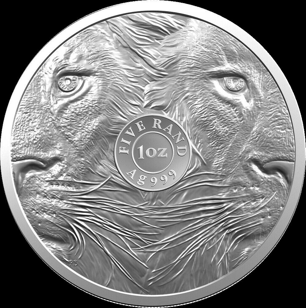 ЮАР монета 5 рэндов Лев, реверс