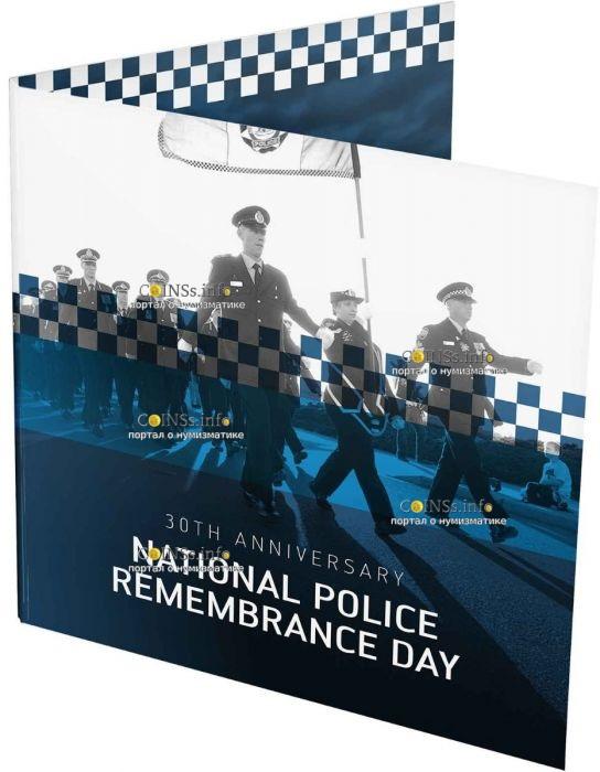 Австралия монета 2 доллара День памяти национальной полиции, подарочная упаковка
