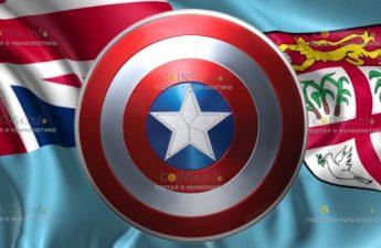 Фиджи монетау 1 доллар Капитан Америка