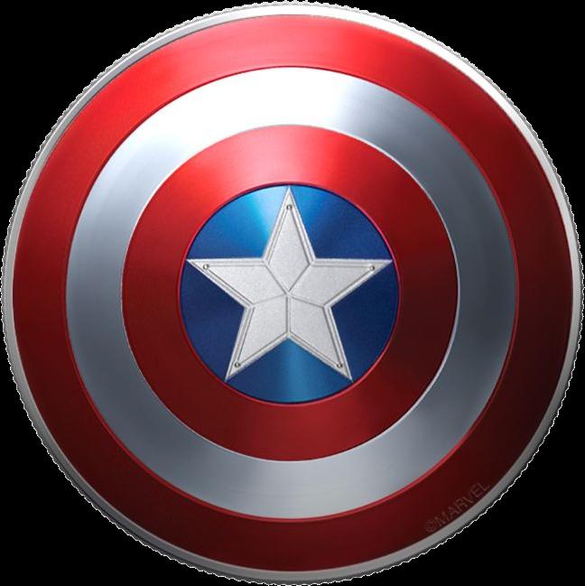 Фиджи монетау 1 доллар Капитан Америка, реверс