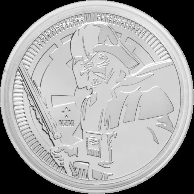 Ниуэ монета 2 доллара Дарт Вейдер, реверс