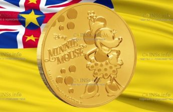 Ниуэ монета 25 долларов Микки Маус