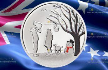 Острова Кука монета 1 доллар Зимняя Страна Чудес