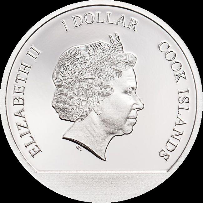 Острова Кука монета 1 доллар Зимняя Страна Чудес, аверс