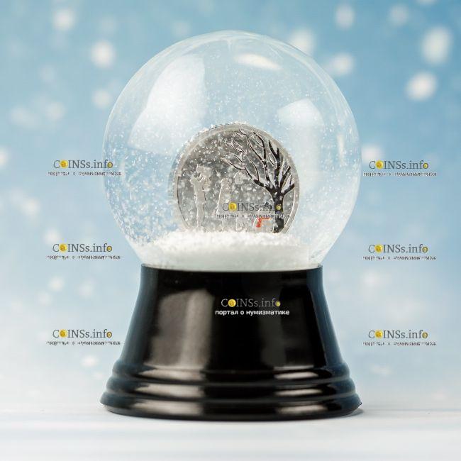 Острова Кука монета 1 доллар Зимняя Страна Чудес, подарочная упаковка