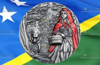 Острова Кука монета 20 долларов Красная Шапочка