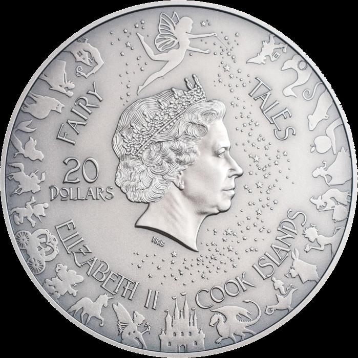 Острова Кука монета 20 долларов Красная Шапочка, аверс