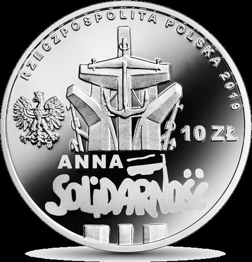 Польша монета 10 злотых Анна Валентынович, аверс