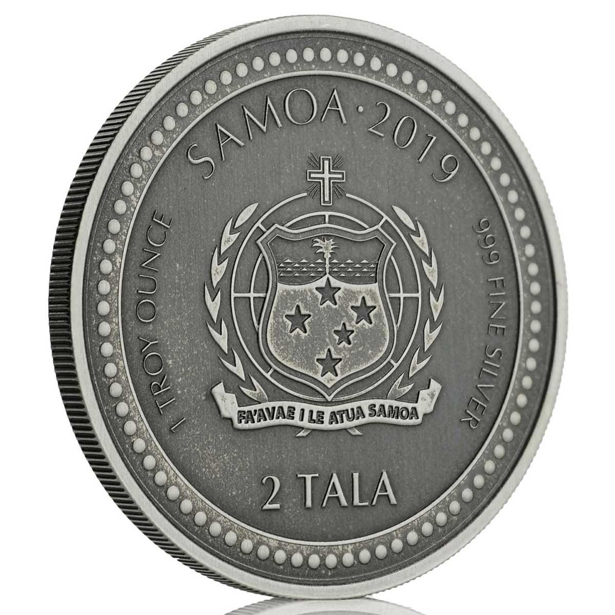 Самоа монета 2 тала Морской конек, A, аверс