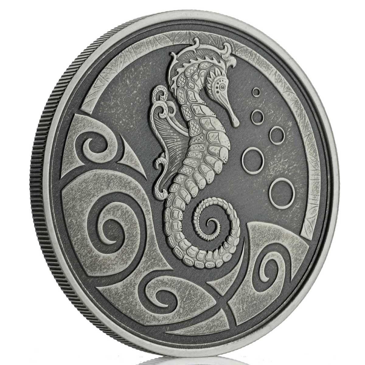 Самоа монета 2 тала Морской конек, A, реверс