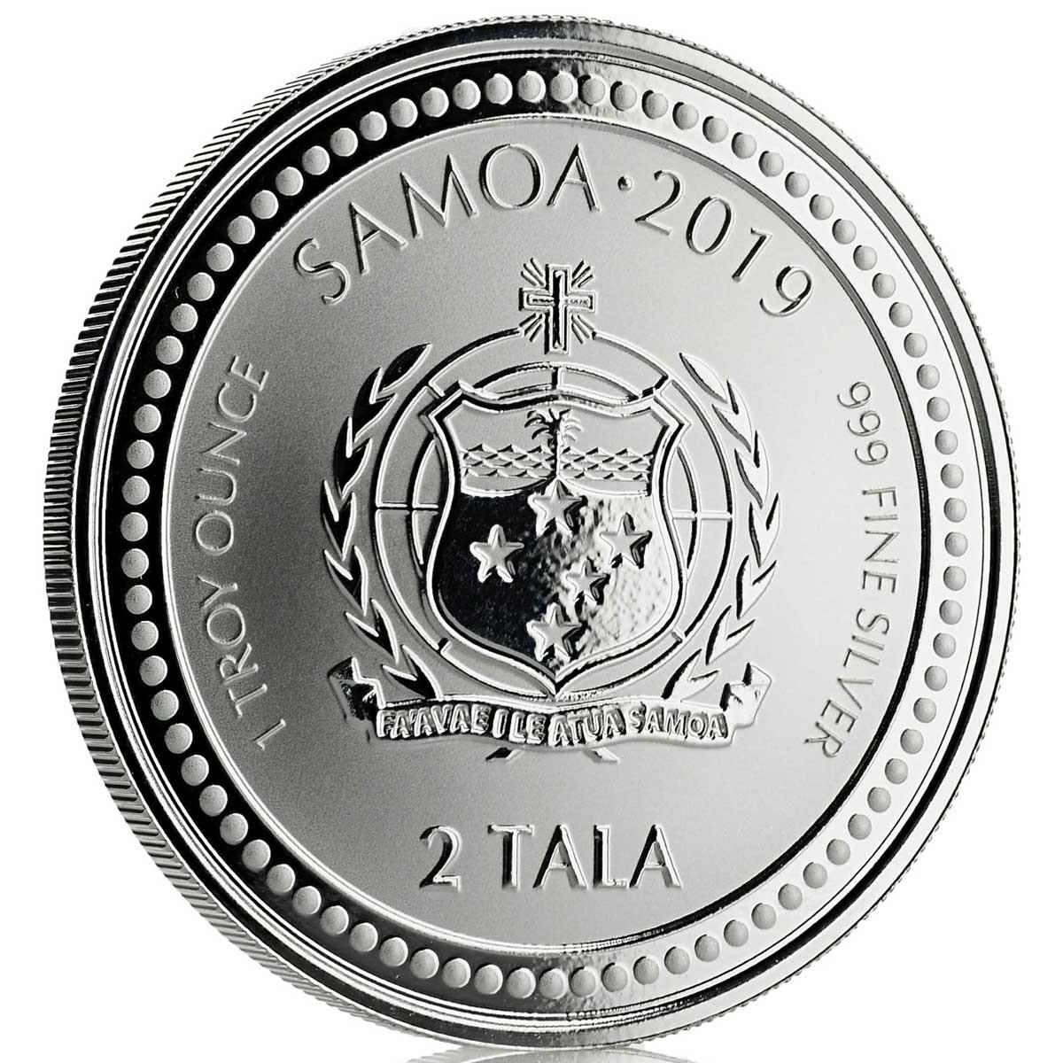 Самоа монета 2 тала Морской конек, BU, аверс