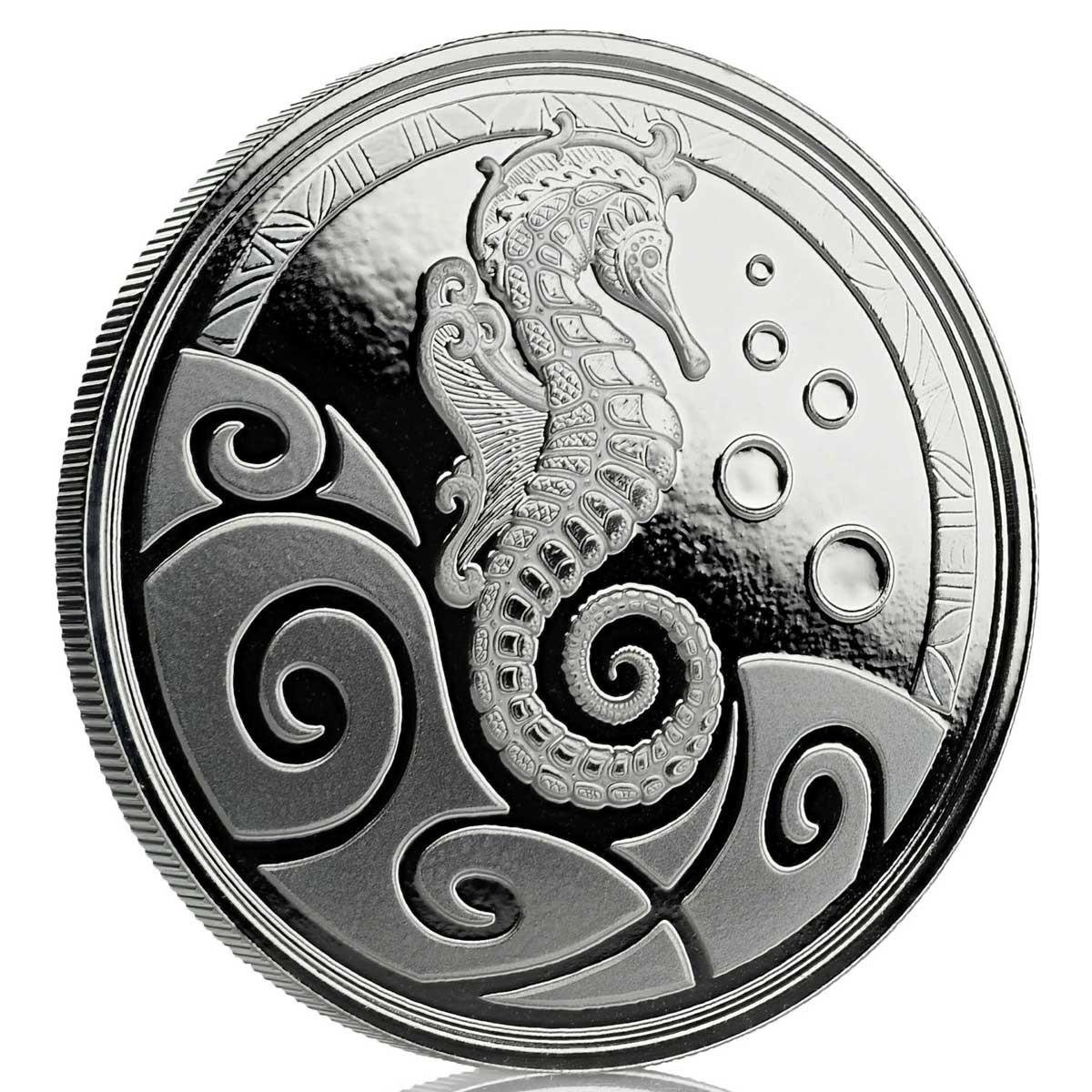 Самоа монета 2 тала Морской конек, BU, реверс
