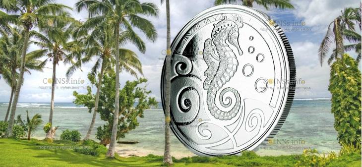 Самоа монета 2 тала Морской конек