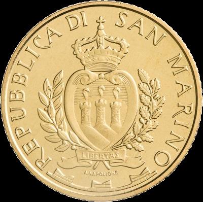 Сан-Марино монета 5 евро, аверс