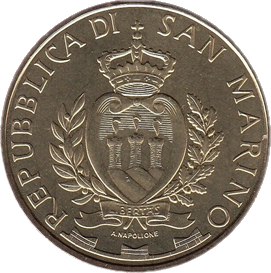 Сан-Марино монета 5 евро Сеть 5G, аверс