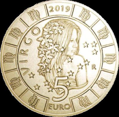 Сан-Марино монета Дева, реверс