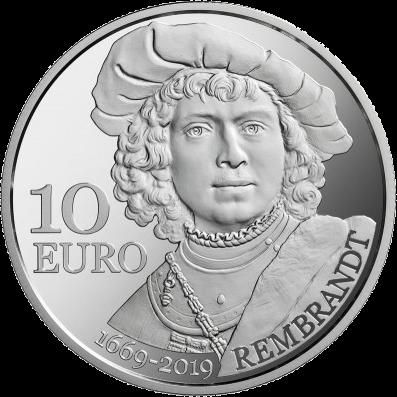 Сан-Марино монета Рембрант, реверс