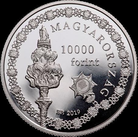 Венгрия монета 10 000 форинтов 250-летия основания Университета Земмельвайс, аверс