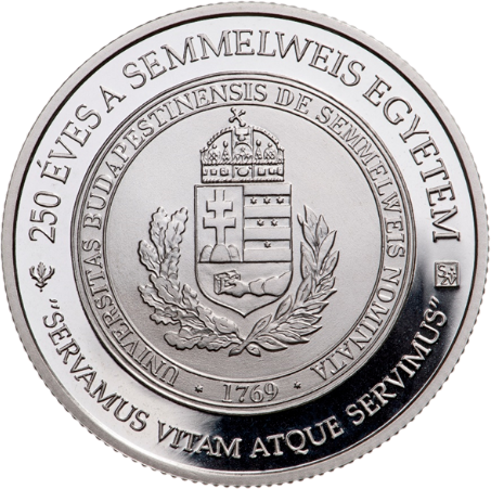 Венгрия монета 10 000 форинтов 250-летия основания Университета Земмельвайс, реверс