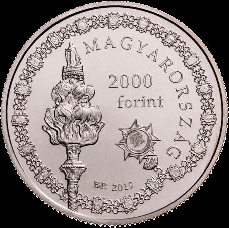 Венгрия монета 2 000 форинтов 250-летия основания Университета Земмельвайс, аверс