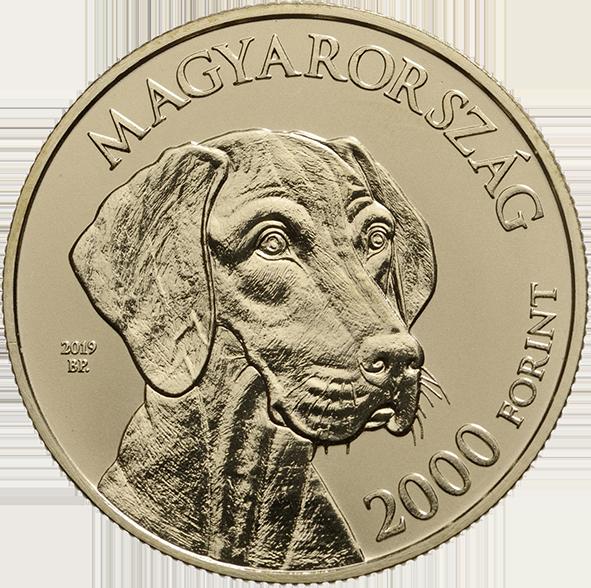 Венгрия монета 2 000 форинтов Венгерская лягавая, аверс