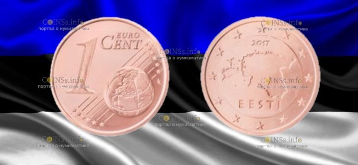 Эстония монета 1 цент