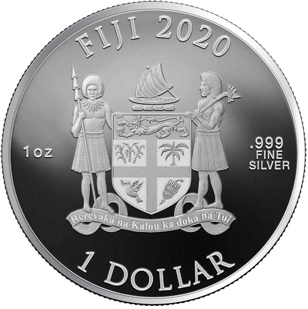 Фиджи 1 доллар 2020 год, аверс