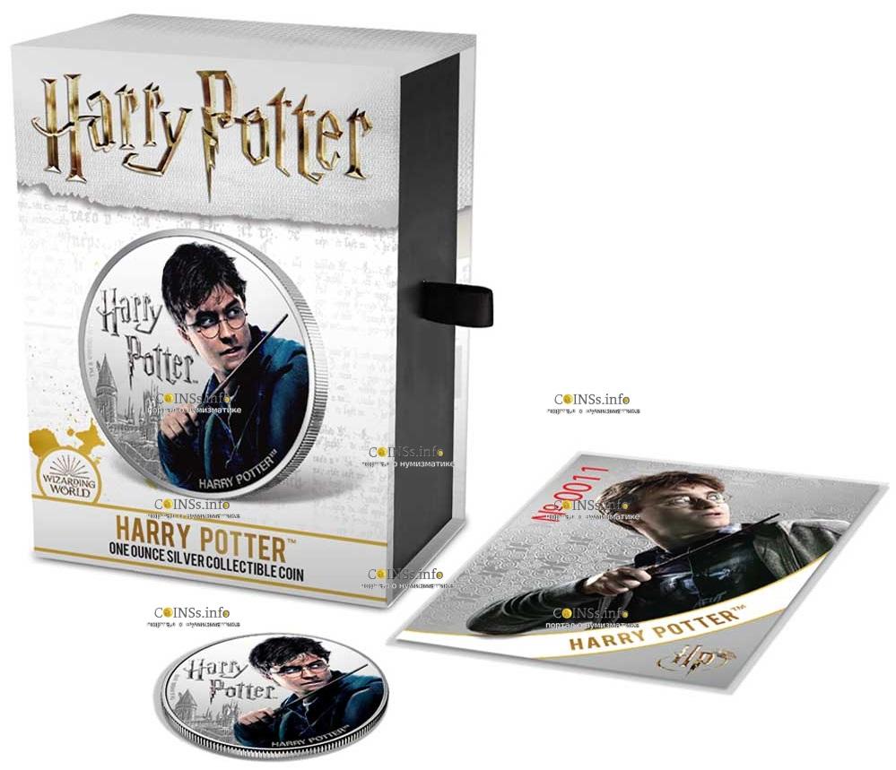 Фиджи 1 доллар Гарри Потер, подарочная упаковка