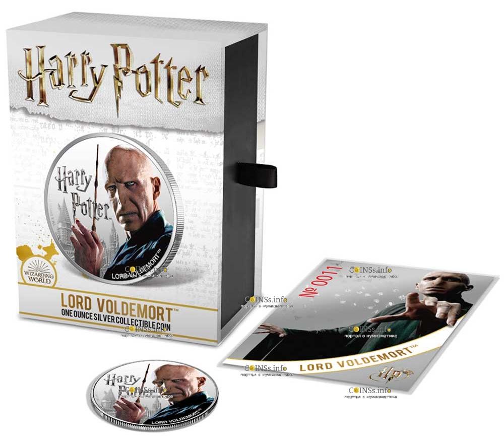Фиджи 1 доллар Лорд Волдеморт, подарочная упаковка