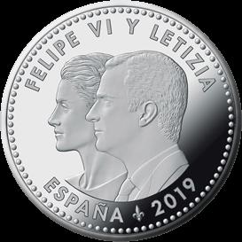 Испания монета 30 евро 2019 год, аверс