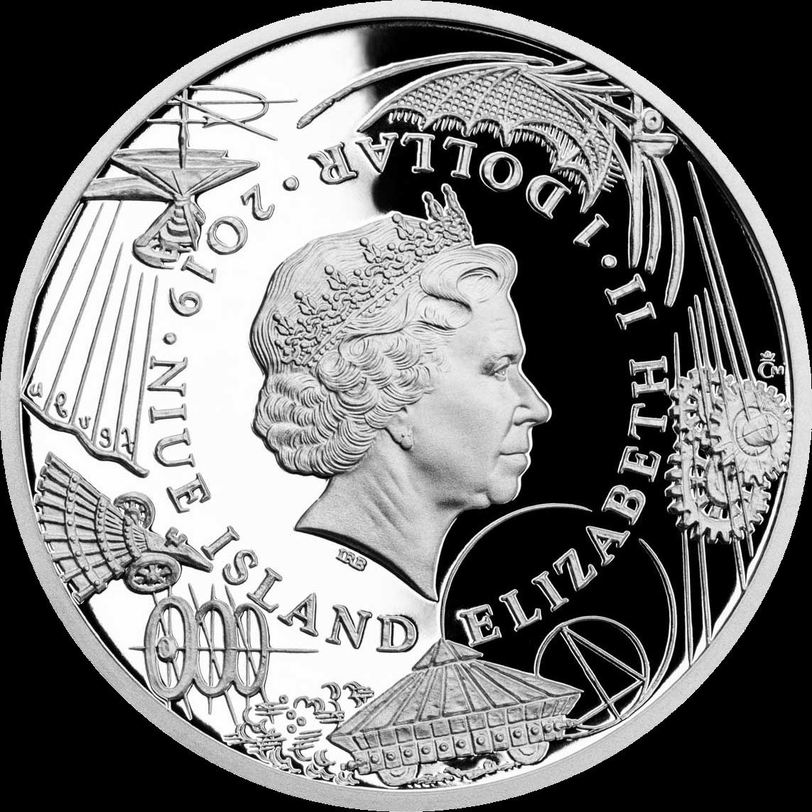 Ниуэ монета 1 доллар Прототип танка, аверс