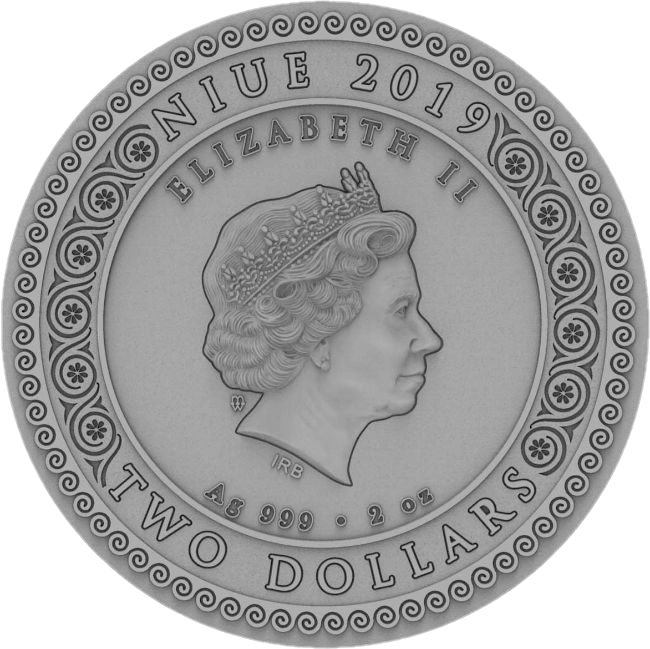 Ниуэ монета 2 доллара Артемида, аверс