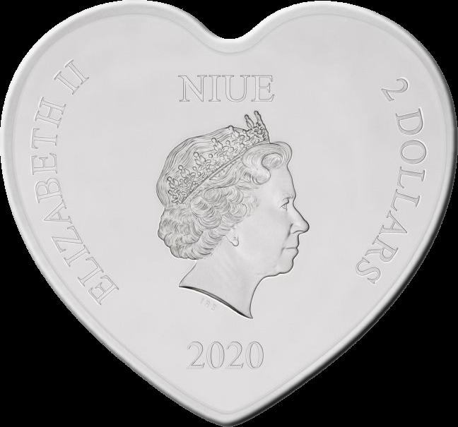 Ниуэ монета 2 доллара Disney Love 2020, аверс