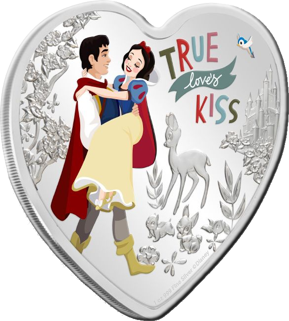 Ниуэ монета 2 доллара Disney Love 2020, реверс