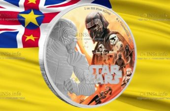 Ниуэ монета 2 доллара Восхождение Скайуокера