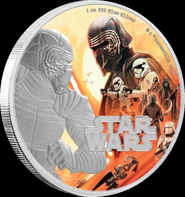 Ниуэ монета 2 доллара Восхождение Скайуокера, реверс