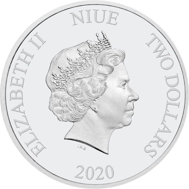 Ниуэ монету 2 доллара 2020 года, аверс