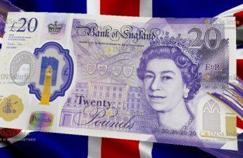 новая банкнота 20 фунтов стерлингов