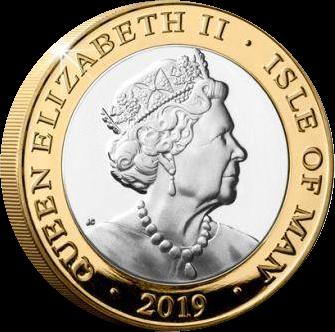 Остров Мэн монета 2 фунта 2019, аверс