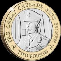 Остров Мэн монета 2 фунта Король Георг VI, реверс