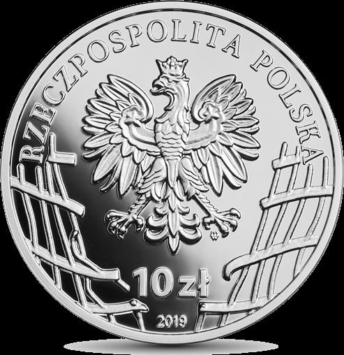 Польша монета 10 злотых Лукаш Цеплински, аверс