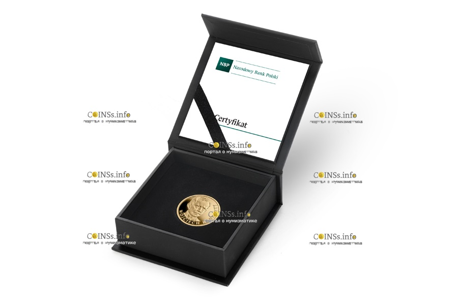 Польша монета 100 злотых Войцех Корфанты, подарочная упаковка