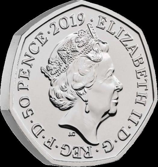 Великобритания монета 50 пенсов Груффало и мышонок, аверс