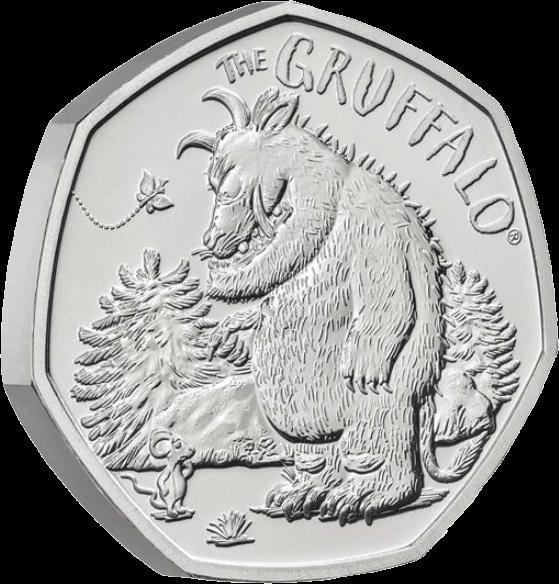 Великобритания монета 50 пенсов Груффало и мышонок, реверс