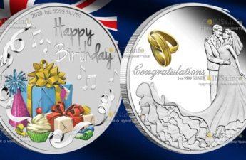 Австралия монеты 1 доллар из серии Поздравляю