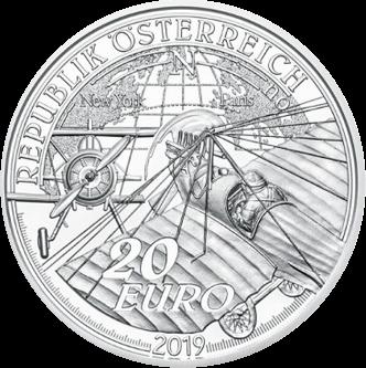 Австрия монета 20 евро Силовой полет, аверс
