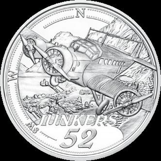Австрия монета 20 евро Силовой полет, реверс